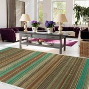 Pimlico Fine Stripe Green Runner By Asiatic