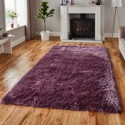 Think Rugs Polar PL 95 Lavender Thick Shaggy Rug
