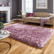 Think Rugs Polar PL 95 Lilac Thick Shaggy Rug