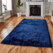 Think Rugs Polar PL 95 Navy Thick Shaggy Rug