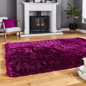 Think Rugs Polar PL 95 Plum Thick Shaggy Rug