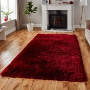 Think Rugs Polar PL 95 Ruby Thick Shaggy Rug