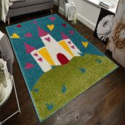 Play Days Princess Castle Multi Kids Rug by Flair Rugs