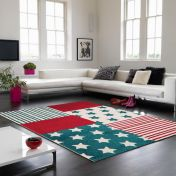 Play Stars & Stripes Rug By Asiatic