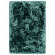 Plush Petrol Luxury Shaggy Polyester Rug by Asiatic