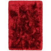 Plush Red Luxury Shaggy Polyester Rug by Asiatic