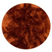 Plush Rust Luxury Shaggy Polyester Circle Rug by Asiatic