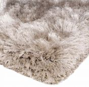 Plush Sand Luxury Shaggy Polyester Circle Rug by Asiatic