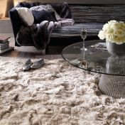 Plush Sand Luxury Shaggy Polyester Rug by Asiatic