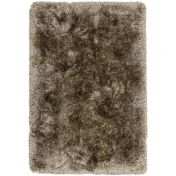 Plush Taupe Luxury Shaggy Polyester Rug by Asiatic