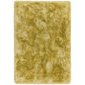 Plush Yellow Plain Shaggy Rug by Asiatic