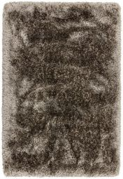 Plush Zinc Luxury Shaggy Polyester Rug by Asiatic