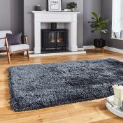 Think Rugs Polar PL95 Charcoal Thick Shaggy Rug