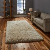 Think Rugs Polar PL95 Cream Thick Shaggy Rug