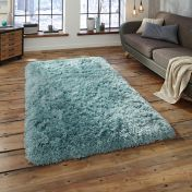 Think Rugs Polar PL95 Light Blue Thick Shaggy Rug