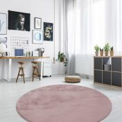 Rabbit 100 Pink Circle Rug by Unique Rugs