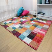 Radiant Square Multi Modern Rug by Flair Rugs