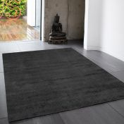 Reko Charcoal Plain Rug By Asiatic