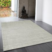 Reko French Grey Plain Rug By Asiatic