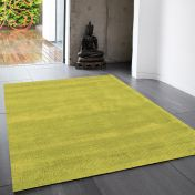 Reko Lime Plain Rug By Asiatic