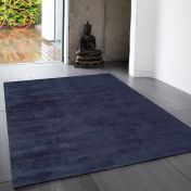 Reko Navy Plain Rug By Asiatic