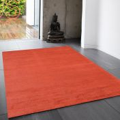 Reko Red Plain Rug By Asiatic