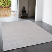 Reko Silver Plain Rug By Asiatic