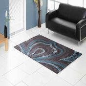 Unique Retro Abstract Design Wool Rug by Prestige