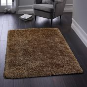 Ritzy Mocha Plain Shaggy Rug By Origins