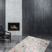 Rocket 310 Ivory Multi Modern Rug by Unique Rugs