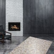 Rocket 410 Ivory Gold Modern Rug by Unique Rugs