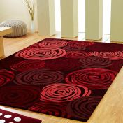 Unique Rose Floral Wool Rug by Prestige