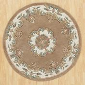 Royal Jewel JEW10 Beige Circle Traditional Rug By Oriental Weavers