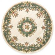 Royal Jewel JEW01 Circle Cream Green Traditional Rug By Oriental Weavers