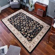 Royal Classic 636B Black Floral Rug By Oriental Weavers