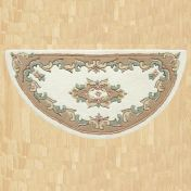 Royal Jewel JEW03 Cream Beige Half Moon Traditional Rug By Oriental Weavers