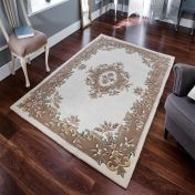 Royal Jewel JEW03 Cream Beige Traditional Rug By Oriental Weavers