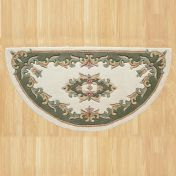 Royal Jewel JEW01 Cream Green Half Moon Traditional Rug By Oriental Weavers