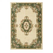 Royal Jewel JEW01 Cream Green Traditional Rug By Oriental Weavers
