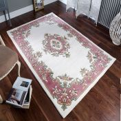 Royal Jewel JEW02 Cream Rose Traditional Rug By Oriental Weavers