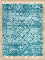 Royal Marrakech 3653a Light Blue Turquiose Shaggy Rug by Mastercraft
