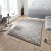 Royal Nomadic 5413 Grey/Cream Rug By Think Rugs
