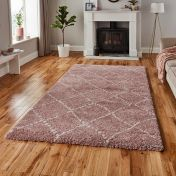 Royal Nomadic 5413 Rose Shaggy Rug by Think Rugs
