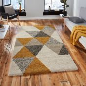 Royal Nomadic 5741 Beige Ochre Shaggy Rug by Think Rugs