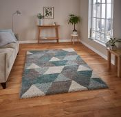 Royal Nomadic 7611 Grey/Teal Rug by Think Rugs