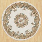 Royal Jewel JEW03 Cream Beige Circle Traditional Rug By Oriental Weavers
