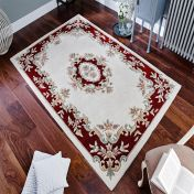 Royal Jewel JEW04 Cream Red Traditional Rug By Oriental Weavers