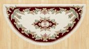 Royal Jewel JEW04 Cream Red Half Moon Traditional Rug By Oriental Weavers