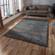 Royal Nomadic 5746 Grey/Blue Rug By Think Rugs
