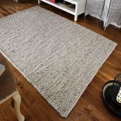 Savannah Textured Grey Wool Rug by Oriental Weavers